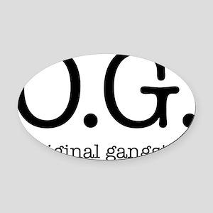 original_gangster Oval Car Magnet