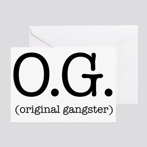 original_gangster Greeting Card