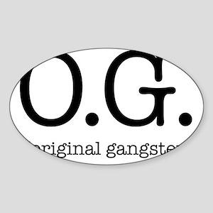 original_gangster Sticker (Oval)