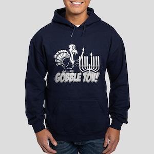 Gobble Tov Thanksgivukkah Turkey and Menorah Hoodi