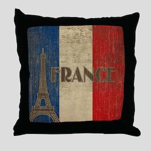 france_fl_Vintage1 Throw Pillow