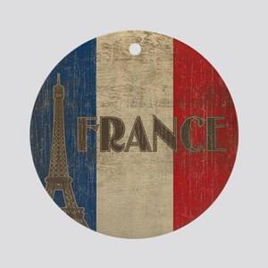 france_fl_Vintage1 Round Ornament