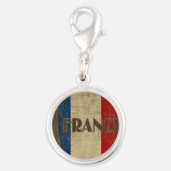 france_fl_Vintage1 Silver Round Charm