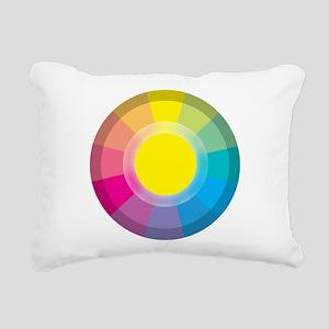 Colour Wheel yellow Rectangular Canvas Pillow
