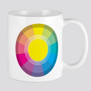 Colour Wheel yellow Mugs