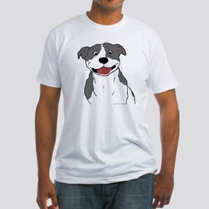 Pit Smile Blue no text Fitted T-Shirt