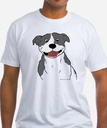 Pit Smile Blue no text Shirt