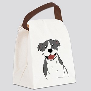 Pit Smile Blue no text Canvas Lunch Bag