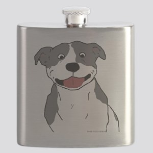 Pit Smile Blue no text Flask