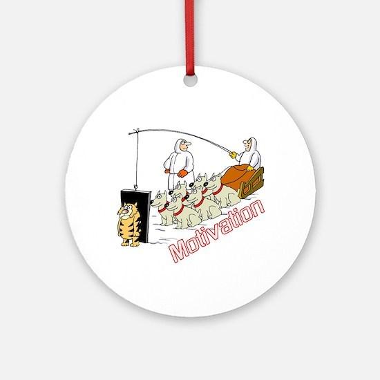 Sled Dog Motivation Ornament (Round)