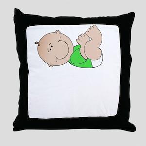 Baby Poop Job White Throw Pillow