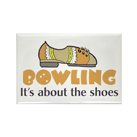 bowling humor Rectangle Magnet