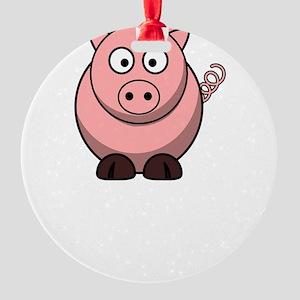 Not Ingredient Pig White Round Ornament