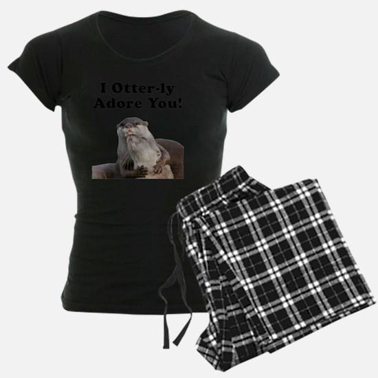 Otterly Adore Black Pajamas