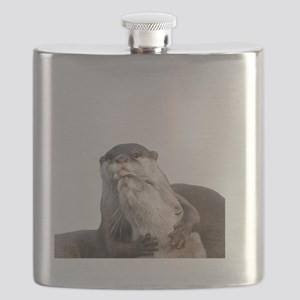 Significant Otter White Flask