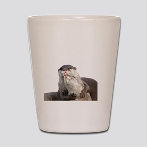 Significant Otter White Shot Glass
