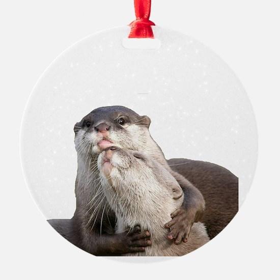 Significant Otter White Ornament