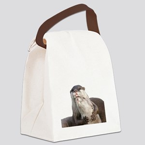 Significant Otter White Canvas Lunch Bag