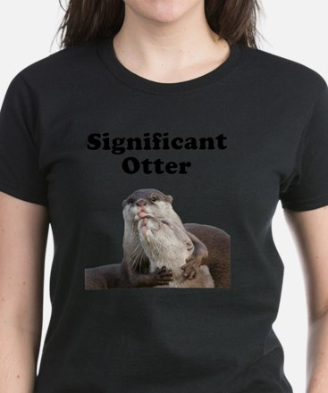 Significant Otter Black Women's Dark T-Shirt