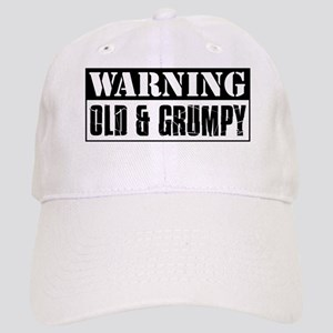 Warning Old And Grumpy Cap