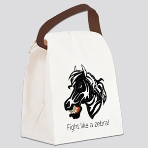 Fight Like a Zebra Canvas Lunch Bag