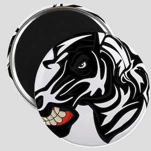 Fight like a zebra WHITE LETTERS Magnet