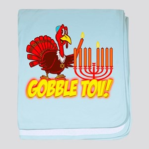 Gobble Tov Thanksgivukkah Turkey and Menorah baby