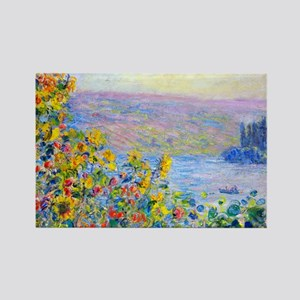 PillCase Monet FloBeds Rectangle Magnet