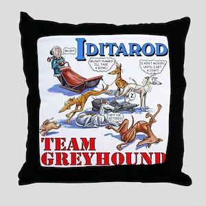 Team Greyhound Throw Pillow