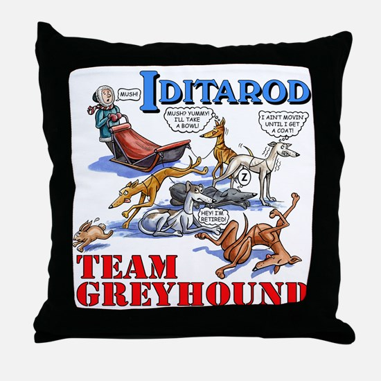 Team Greyhound Throw Pillow