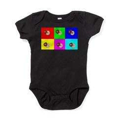 Andy Warhola Bagels Baby Bodysuit