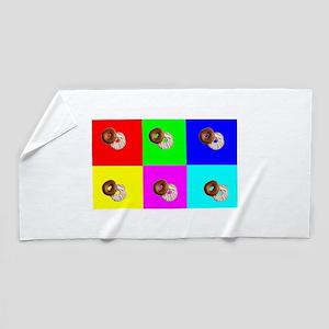 Andy Warhola Bagels Beach Towel