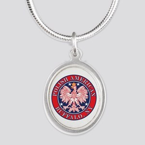 Buffalo New York Polish Silver Oval Necklace