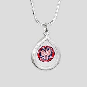Buffalo New York Polish Silver Teardrop Necklace