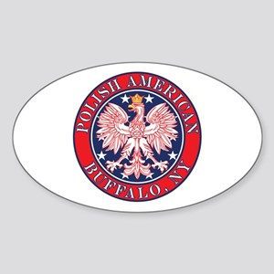 Buffalo New York Polish Sticker (Oval)