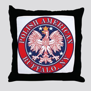 Buffalo New York Polish Throw Pillow