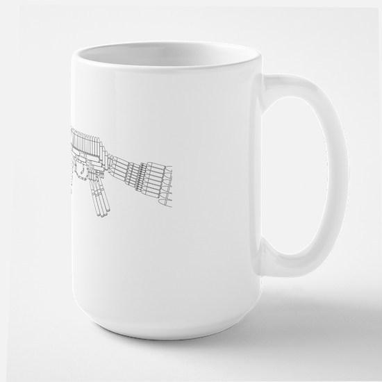 ak_xray_black Large Mug