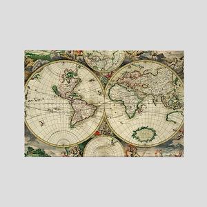 World_Map_1689 Rectangle Magnet