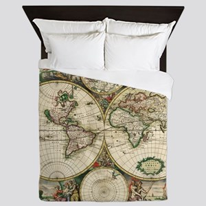 World_Map_1689 Queen Duvet