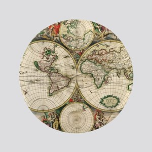 """World_Map_1689 3.5"""" Button"""
