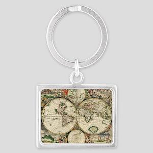 World_Map_1689 Landscape Keychain