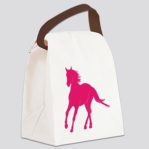 10x10pink horse Canvas Lunch Bag
