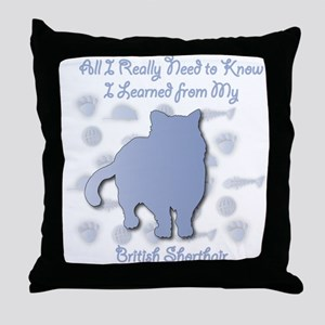 Learned Shorthair Throw Pillow
