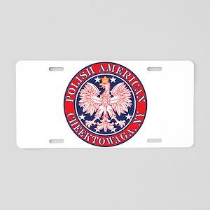Cheektowaga New York Polish Aluminum License Plate