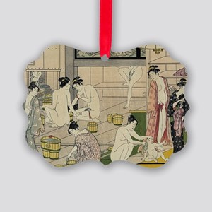 Kiyonaga bathhouse women Picture Ornament