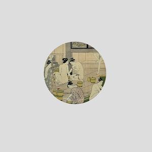 Kiyonaga bathhouse women SC Mini Button
