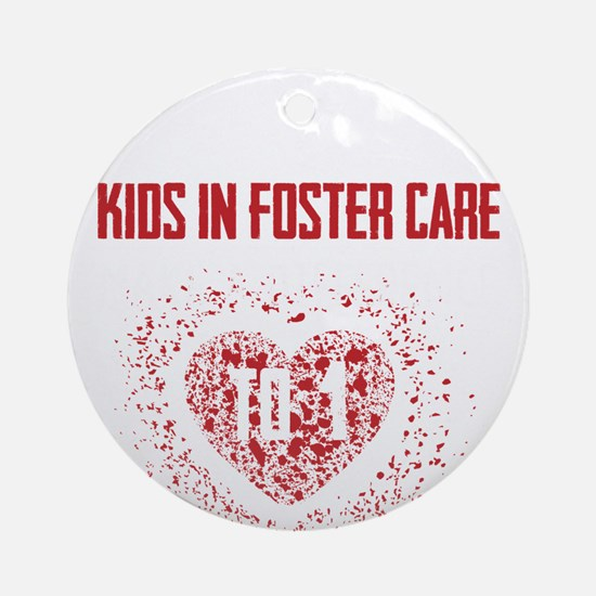 Make a Difference to a Foster Child Round Ornament