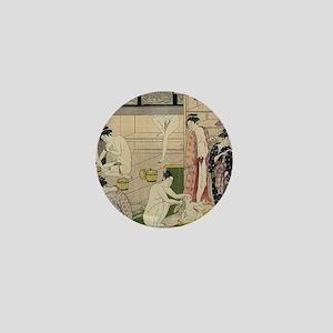 Kiyonaga bathhouse women SC2 Mini Button