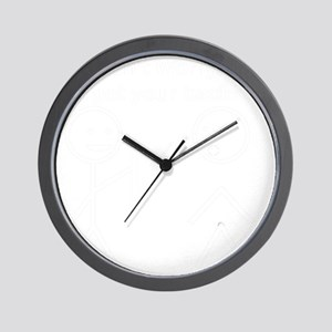 Got your back white Wall Clock