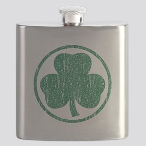 Vintage Green Shamrock Flask